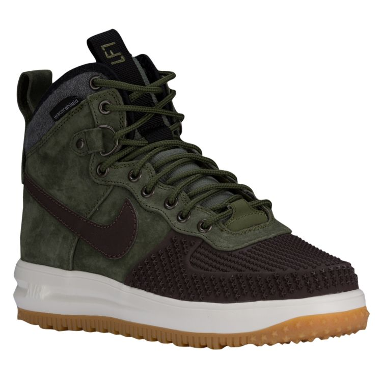 나이키 남자 스니커즈 부츠 하이탑 Nike Lunar Force 1 Duckboots - Men's - Casual - Shoes - Baroque Brown/Black/Sail/Army Olive