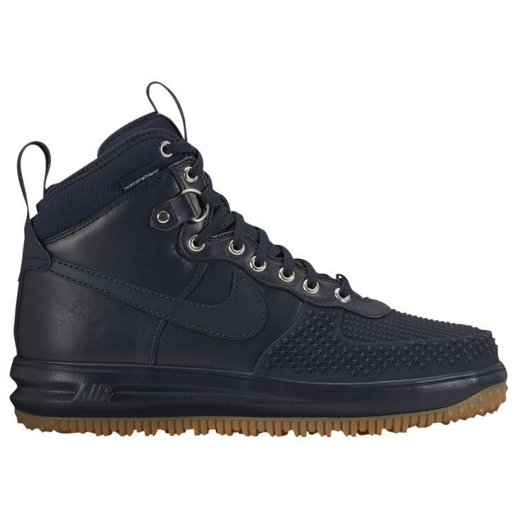 나이키 남자 스니커즈 부츠 하이탑 Nike Lunar Force 1 Duckboots - Men's - Casual - Shoes - Dark Obsidian/Gum Light Brown/Dark Obsidian