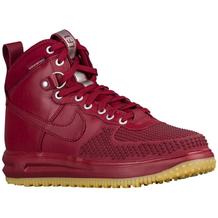 나이키 남자 스니커즈 부츠 하이탑 Nike Lunar Force 1 Duckboots - Men's - Casual - Shoes - Team Red/Gum Light Brown/Team Red
