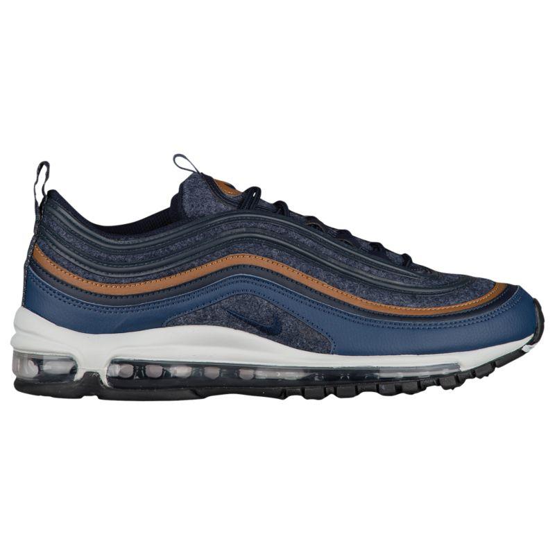 나이키 남자 캐주얼 스니커즈 런닝화 Nike Air Max 97 - Men's - Running - Shoes - Thunder Blue/Dark Obsidian/Ale Brown