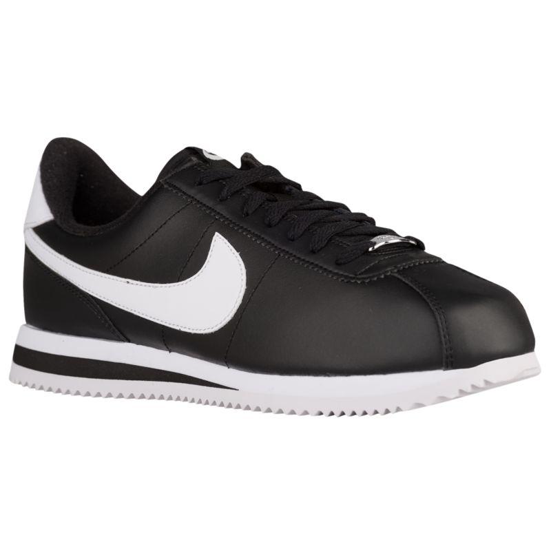 나이키 남자 캐주얼 스니커즈 런닝화 Nike Cortez - Men's - Running - Shoes - Black/Metallic Silver/White