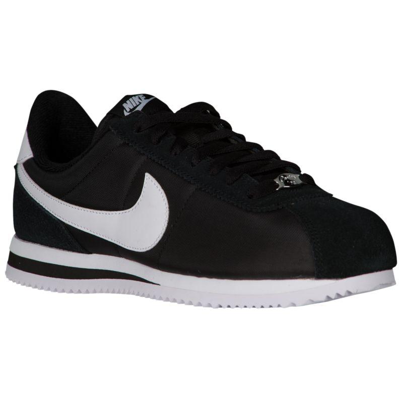 나이키 남자 캐주얼 스니커즈 런닝화 Nike Cortez - Men's - Running - Shoes - Black/White/Metallic Silver