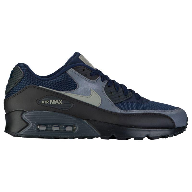 나이키 남자 캐주얼 스니커즈 런닝화 Nike Air Max 90 - Men's - Running - Shoes - Obsidian/Dark Stucco/Black/Anthracite