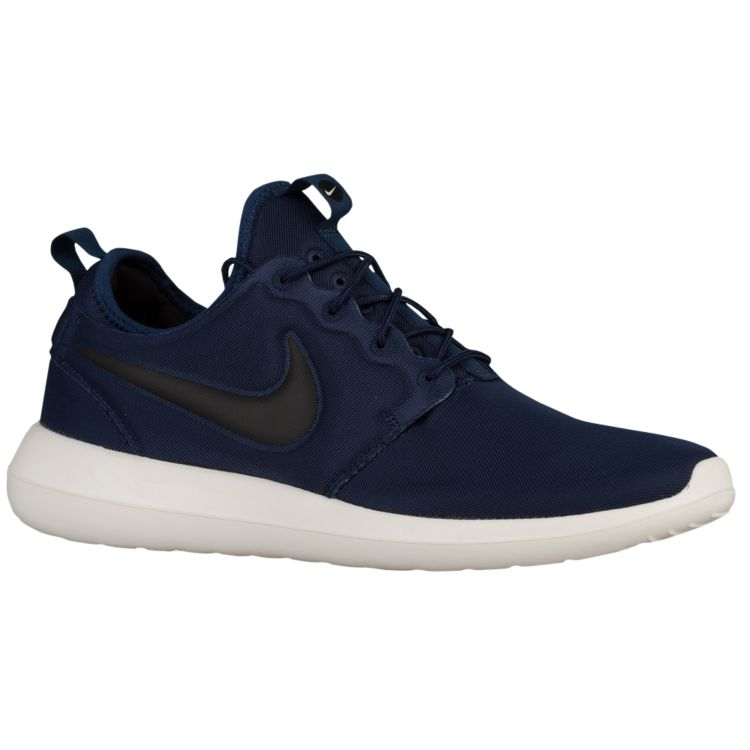 나이키 남자 스니커즈 런닝화 Nike Roshe Two - Men's - Running - Shoes - Midnight Navy/Sail/Volt/Black