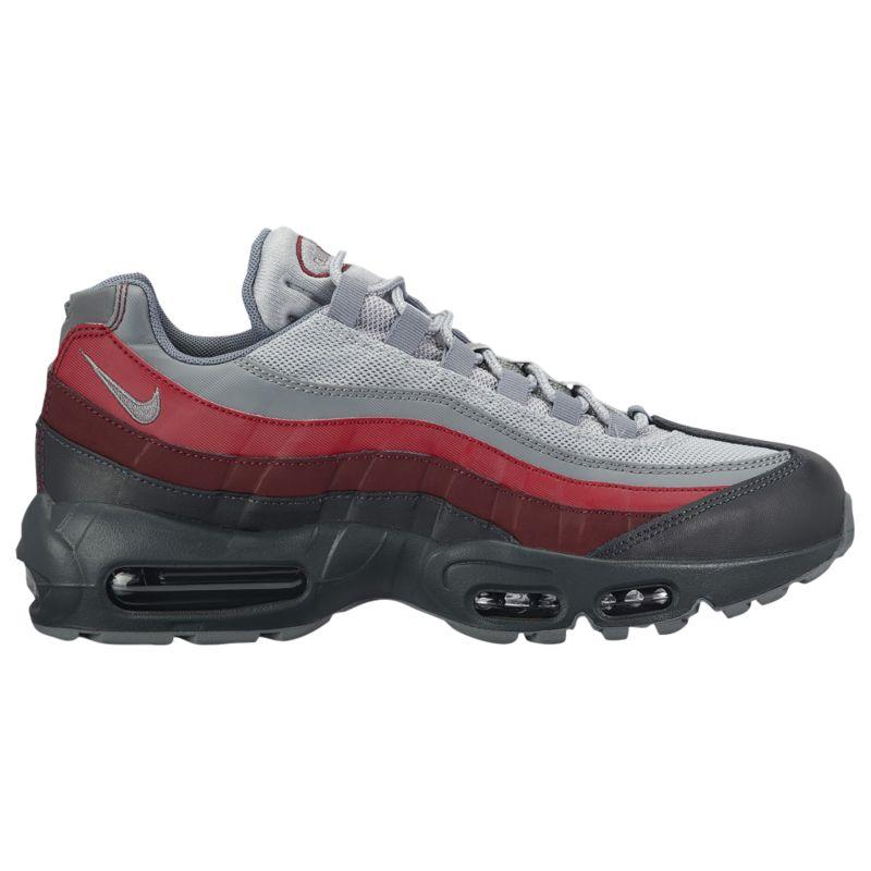 나이키 남자 캐주얼 스니커즈 런닝화 Nike Air Max 95 - Men's - Running - Shoes - Anthracite/Cool Grey/Wolf Grey/Team Red