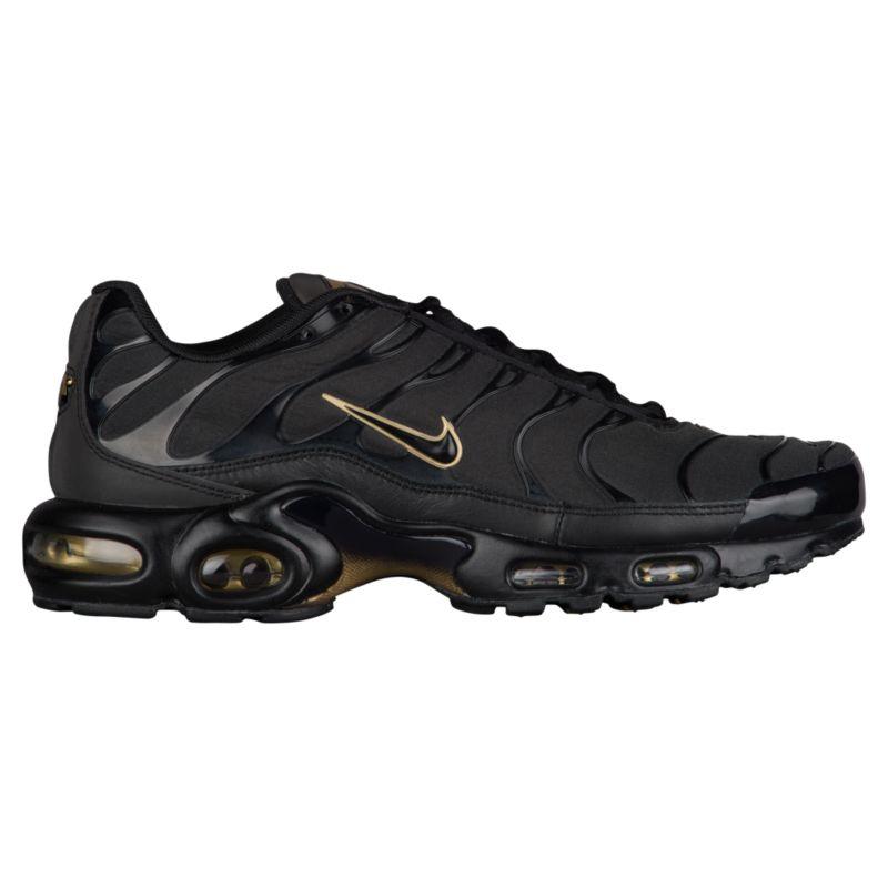 나이키 남자 캐주얼 스니커즈 런닝화 Nike Air Max Plus - Men's - Running - Shoes - Black/Black/Metallic Gold