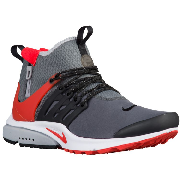 나이키 남자 스니커즈 런닝화 Nike Air Presto Mid Utility - Men's - Running - Shoes - Dark Grey/Black/Wolf Grey/Max Orange
