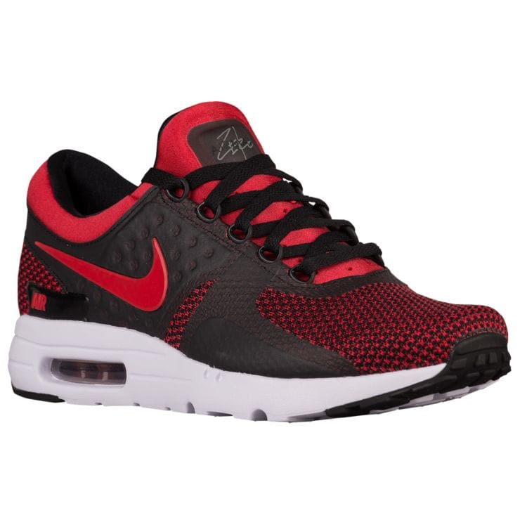 나이키 남자 스니커즈 런닝화 Nike Air Max Zero - Men's - Running - Shoes - University Red/Black/Team Red/University Red